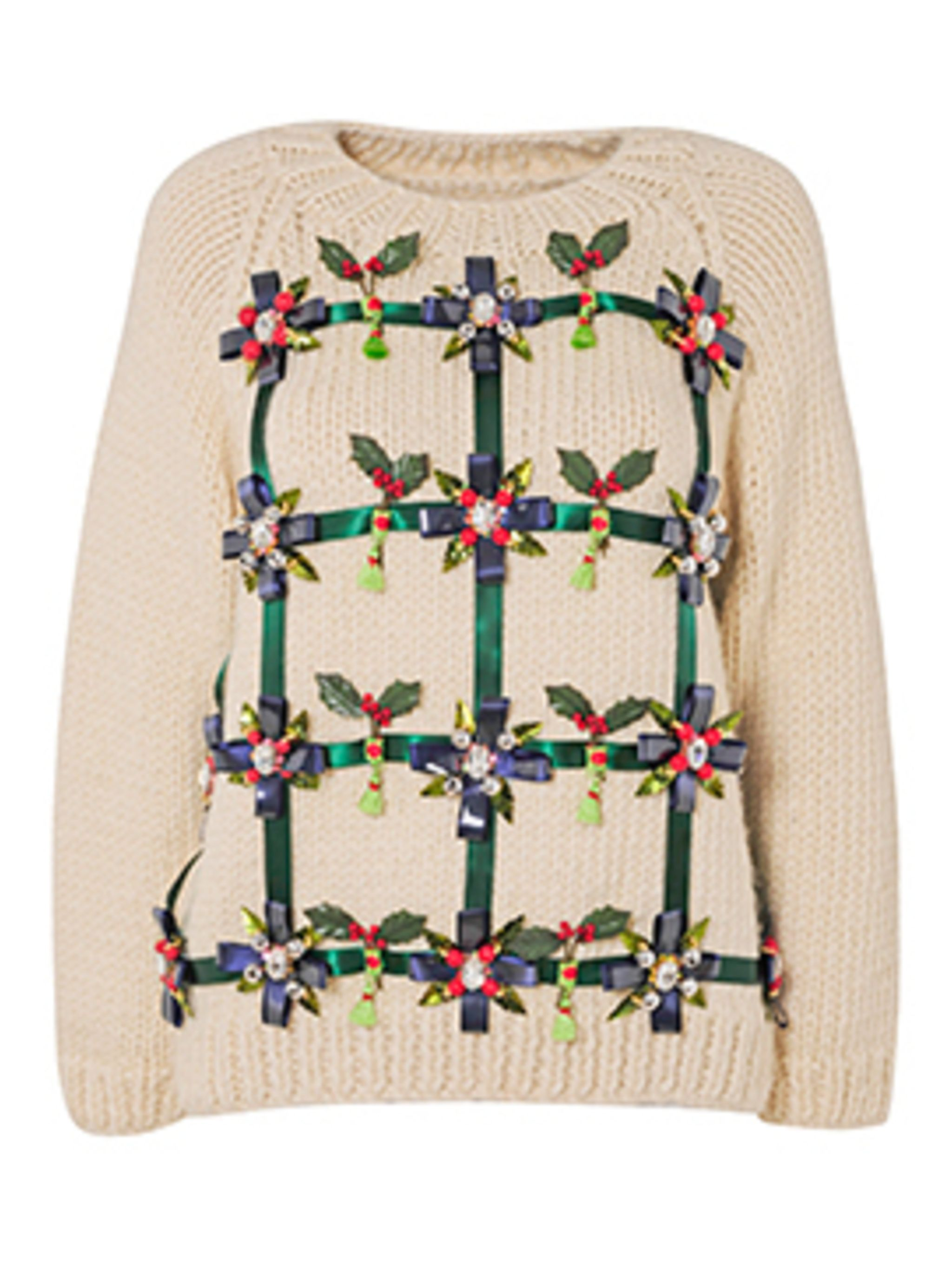 <p>Save The Children Christmas jumper by Mary Katrantzou</p>