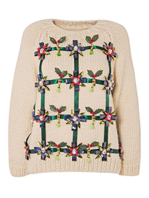 <p>Save The Children Christmas jumper by Mary Katrantzou</p>