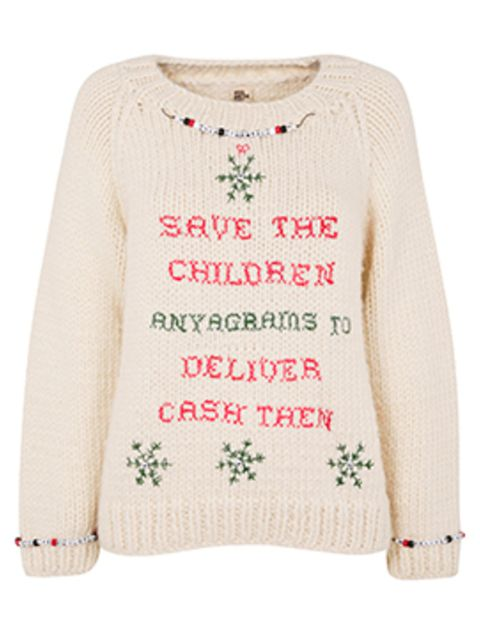 <p>Save The Children Christmas jumper by Anya Hindmarch</p>