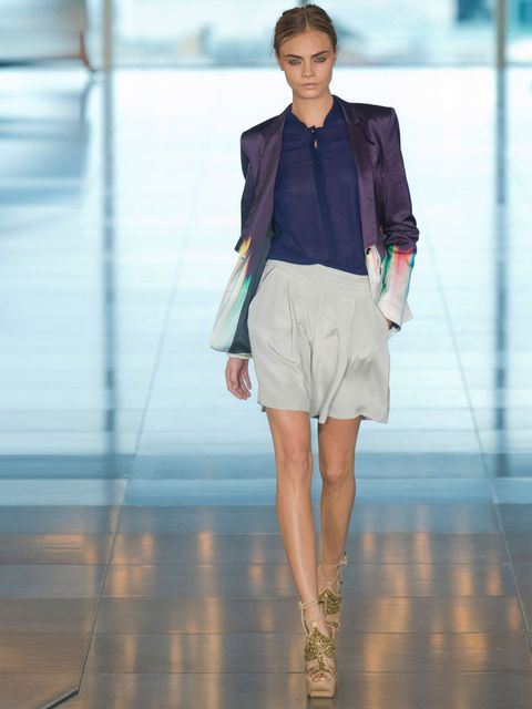 "<p>Cara Delevigne, <a href=""http://www.elleuk.com/catwalk/designer-a-z/matthew-williamson/spring-summer-2013"">Matthew Williamson Spring Summer 2013</a>.</p>"