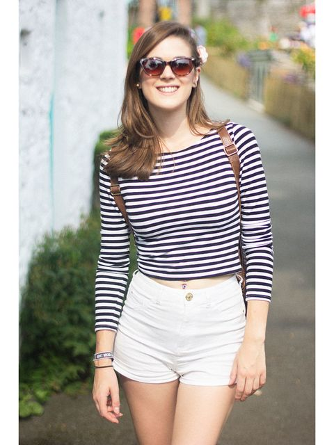 Emma Clarke wears H&M top and River Island shorts.