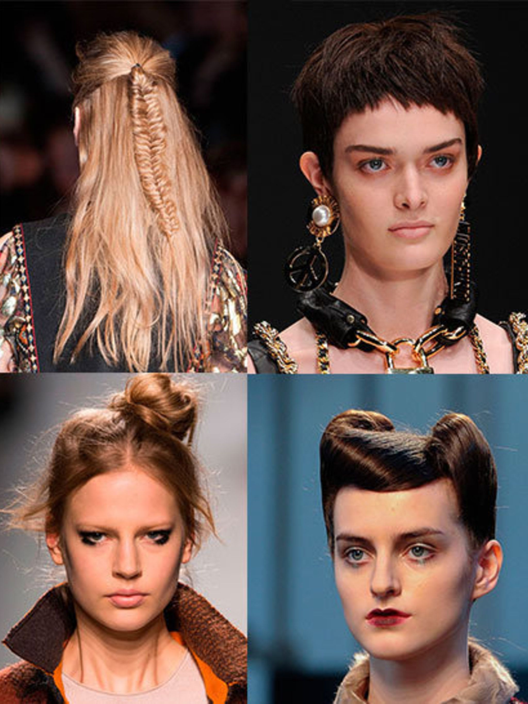 "<p>The Milanese are connoisseurs when it comes to attention to detail; from intricate braided buns at <a href=""http://www.elleuk.com/catwalk/designer-a-z/dolce-gabbana"">Dolce and Gabbana</a> to delicately dishevelled fishtail plaits at <a href=""http://www"