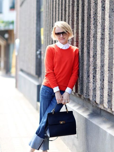 <p>Lorraine Candy, Editor-In-Chief</p>  <p>Marks & Spencer jumper and shoes, Paul Smith shirt, MiH jeans, Balenciaga bag, Bobbi Brown sunglasses</p>
