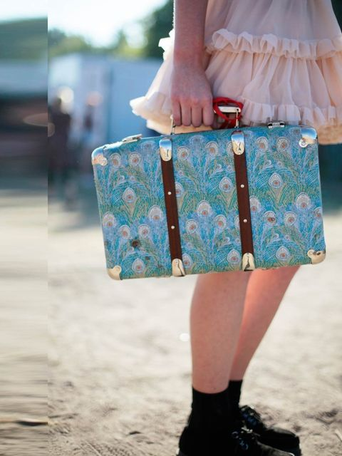 <p>Alice French is wearing American Apparel skirt, Doc Marten shoes and bag from Liberty's.</p>