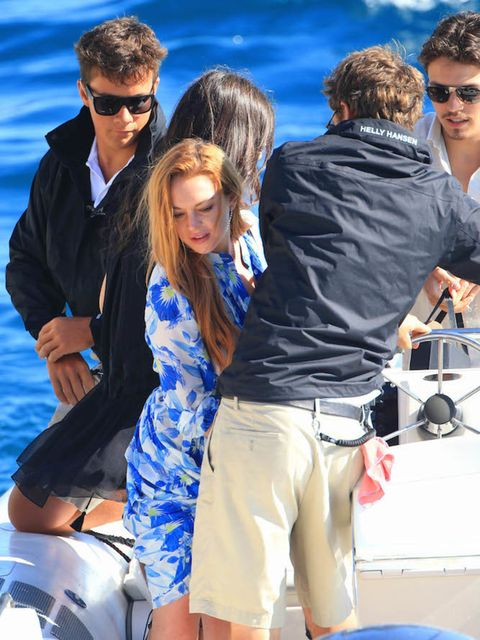 Lindsay Lohan goes yacht hopping in Cannes, south of France this May with her fiance Egor Tarabasov