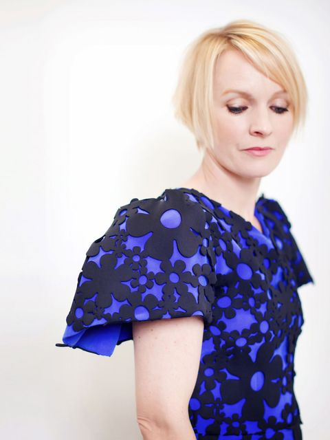 "<p>Roksanda Ilincic dress.</p><p>Hair by George Northwood; make-up by Linda Andersson.</p><p><a href=""http://www.elleuk.com/star-style/red-carpet/british-fashion-awards-designers-celebrities-kate-moss-rita-ora-daisy-lowe""></a></p><p><a href=""http://www.el"