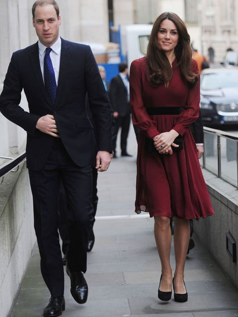 <p>The Duke and Duchess in London to unveil her first official portrait</p>