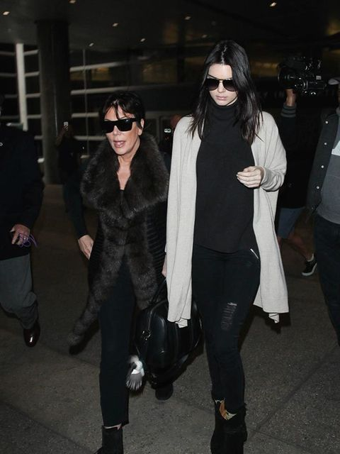 Kendall arrives at LAX with Kris Jenner. And just like that #KendallWatchAW15 is over. See you next season...