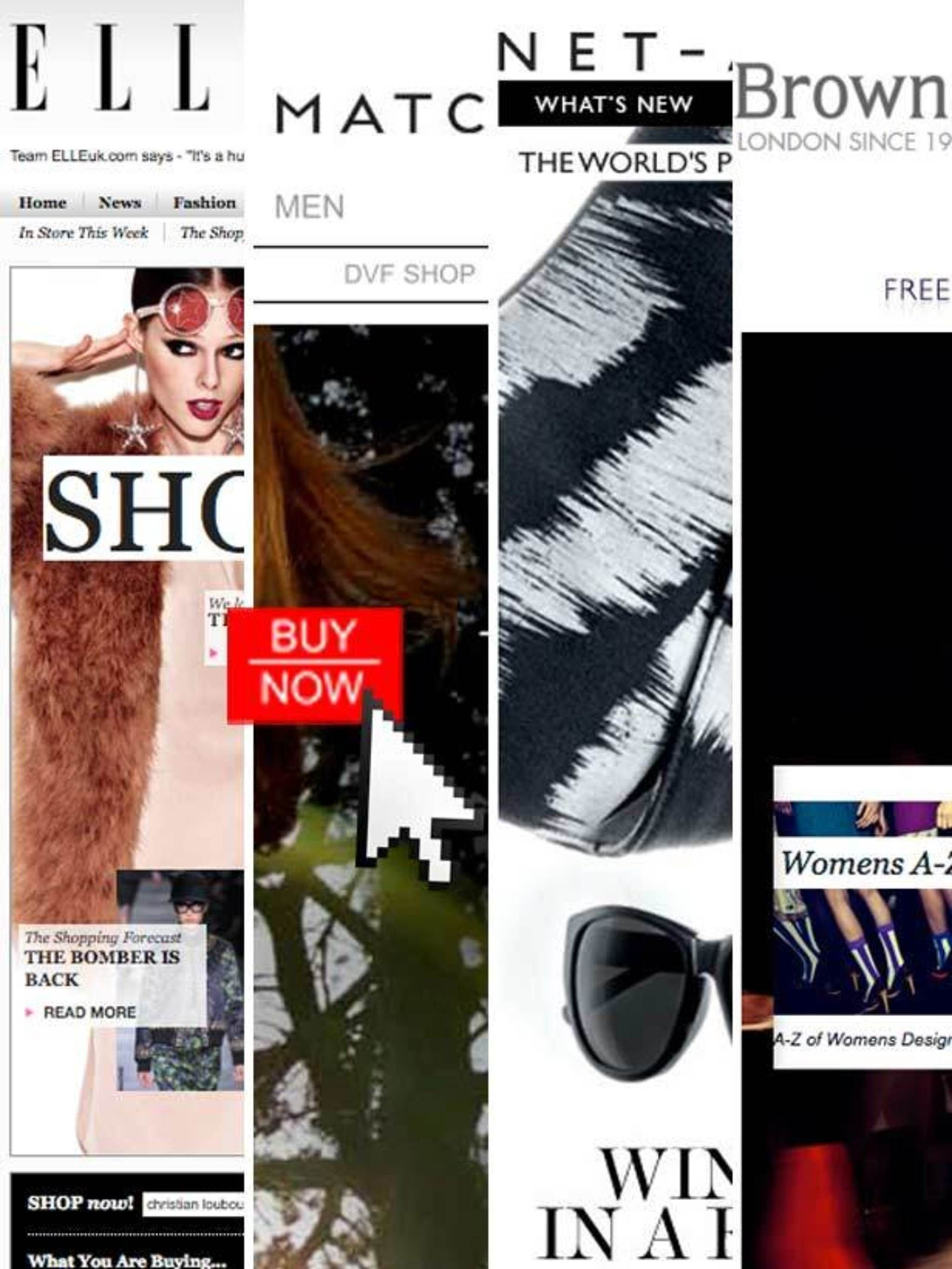 Collage of online shopping sites