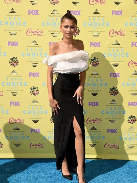 Zendaya attends the Teen Choice Awards in LA, August 2015.
