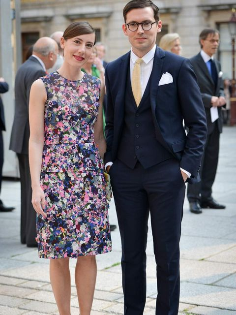 <p>Erdem Moralioglu and Sara Moralioglu at the Royal Academy</p>