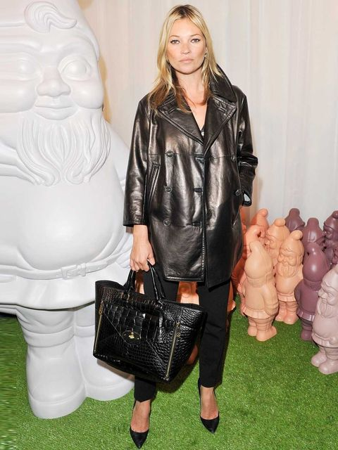 <p>Supermodel Kate Moss made her first appearance at London Fashion Week SS13 at the Mulberry show.</p>