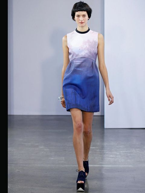 "<p><a href=""%20//www.elleuk.com/catwalk/designer-a-z/victoria-by-victoria-beckham/spring-summer-2013"">Victoria, Victoria Beckham, S/S 2013</a>This pretty printed silk dress, inspired by the Beckham's L.A. lifestyle, will be dropping into stores any minute"