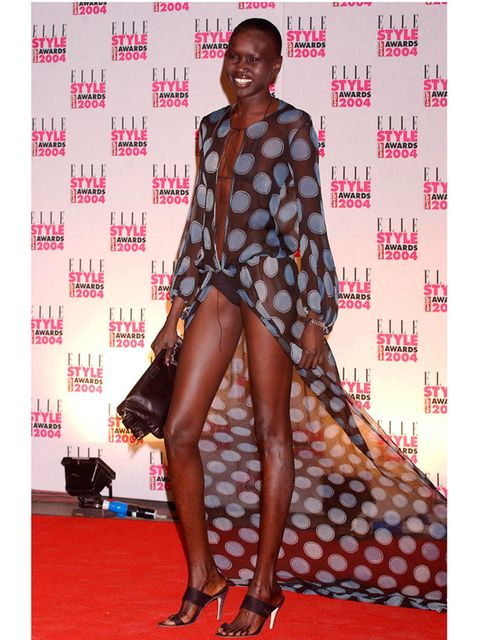 <p>Alek Wek at ELLE Style Awards 2004.</p>