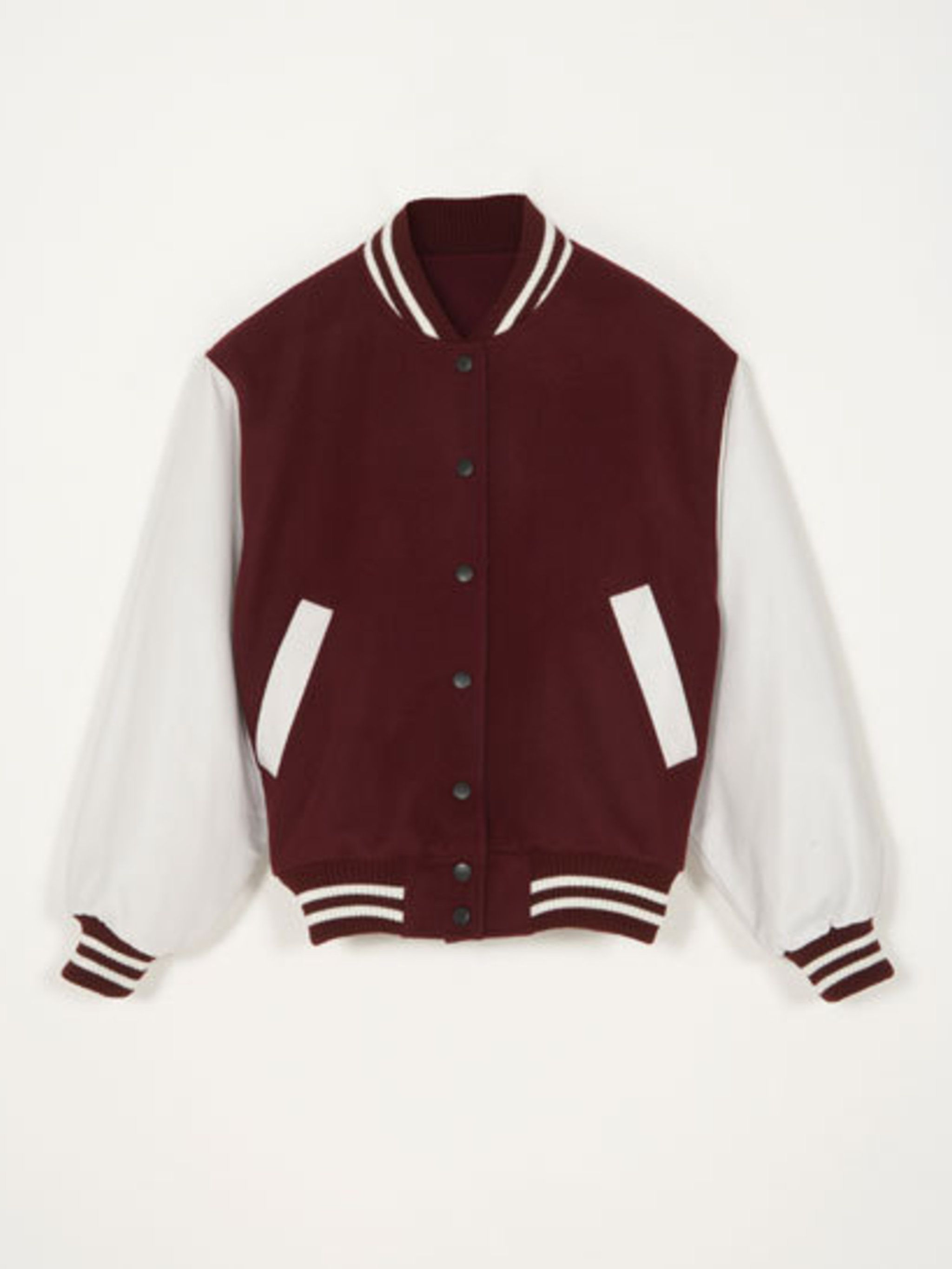 <p>J W Anderson for Topshop baseball jacket</p>