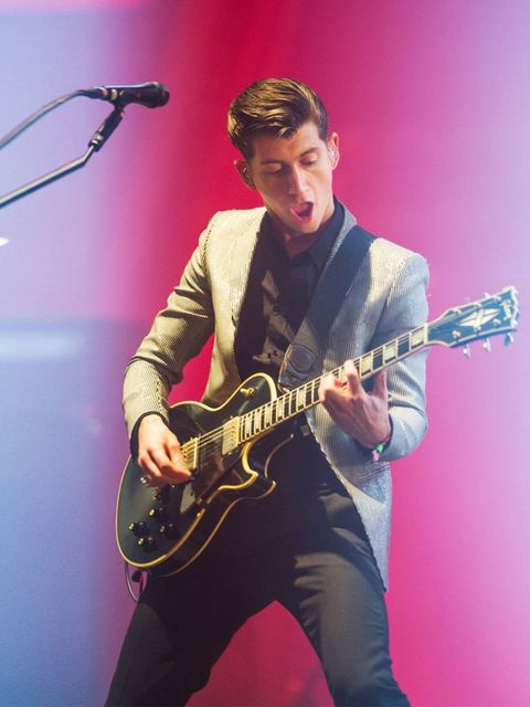 <p>Alex Turner of the Arctic Monkeys performing on the Pyramid Stage.</p>