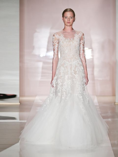 "<p>Reem Acra, autumn/winter 2014.<em> </em></p><p><em><a href=""http://www.elleuk.com/style/occasions/wedding-dress-inspiration-from-spring-summer-2014-fashion-week-new-york-london-milan-paris"">SS14 bridal inspiration</a></em></p><p><em><a href=""http://www"