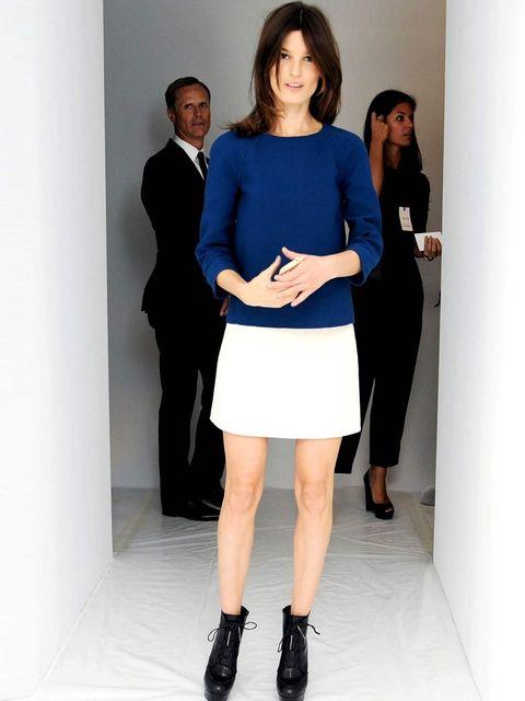 <p>Hanneli Mustaparta at the Calvin Klein show.</p>