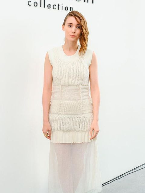 Rooney Mara wore Calvin Klein to the Calvin Klein Spring/Summer show in New York, September 2014.