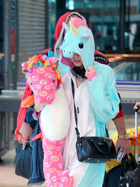 <p><strong>A unicorn onesie</strong></p>  <p>With complementary oversized seahorse doll.</p>