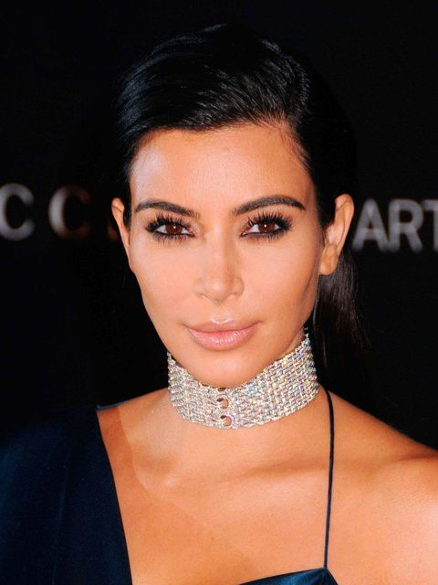 "<p>We're used to seeing <a href=""http://www.elleuk.com/fashion/celebrity-style/kim-kardashian-style-file"">Kim Kardashian</a> with dark, groomed brows.</p>"
