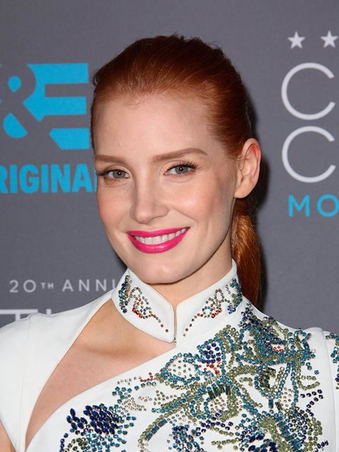 """<p><a href=""""http://www.elleuk.com/fashion/celebrity-style/jessica-chastain"""">Jessica Chastain</a></p>"""