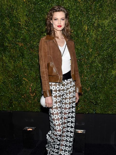 Lindsay Wixon attends the Chanel dinner during the Tribeca Film Fesitval 2015.