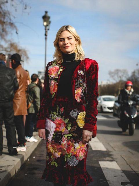 <p>Pandora Sykes</p>  <p>Alice Archer outfit, L.K.Bennett boots, Chanel bag</p>