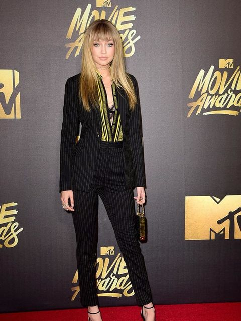 Gigi Hadid at the MTV Movie Awards in California, April 2016.