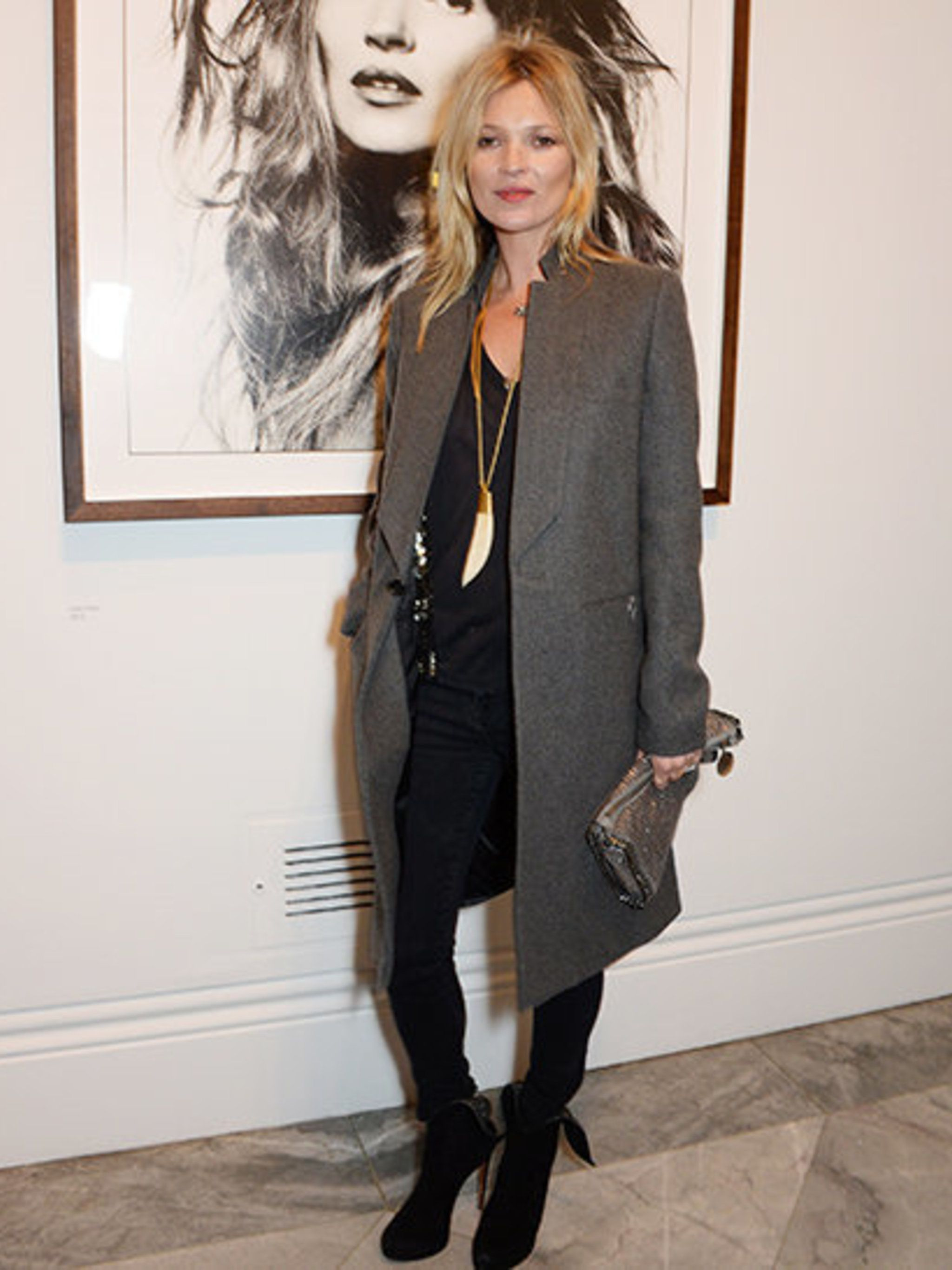 <p>Kate Moss at Bailey's Stardust private view, at the National Portrait Gallery.</p>