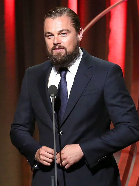 <p>Leonardo DiCaprio ELLE says 'A little manly stubble yes, but a full-on beard, hmm, we're not convinced.'</p>