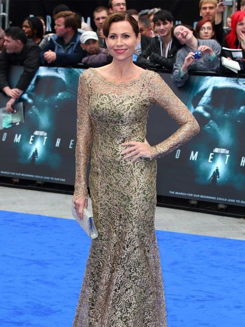<p>Minnie Driver at the Prometheus premiere in London</p>