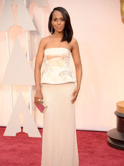 Kerry Washington wore Miu Miu at the 2015 Oscars.