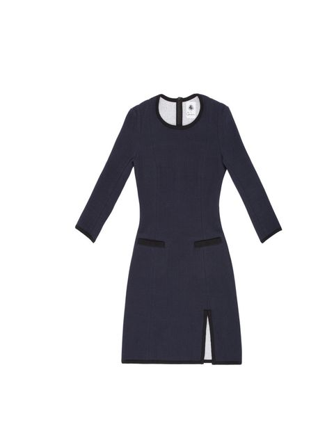 "<p>Carven x Petit Bateau Robe Smoking, £210.85 </p><p>Available from MONDAY November 5th at <a href=""http://www.farfetch.com/"">www.farfetch.com</a></p>"