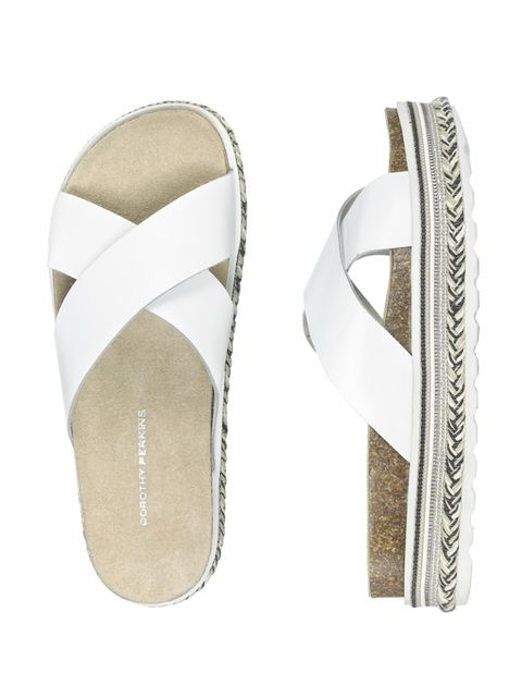 """I like to keep it simple, minimal and easy.""  Leather sandals, £20, Dorothy Perkins"