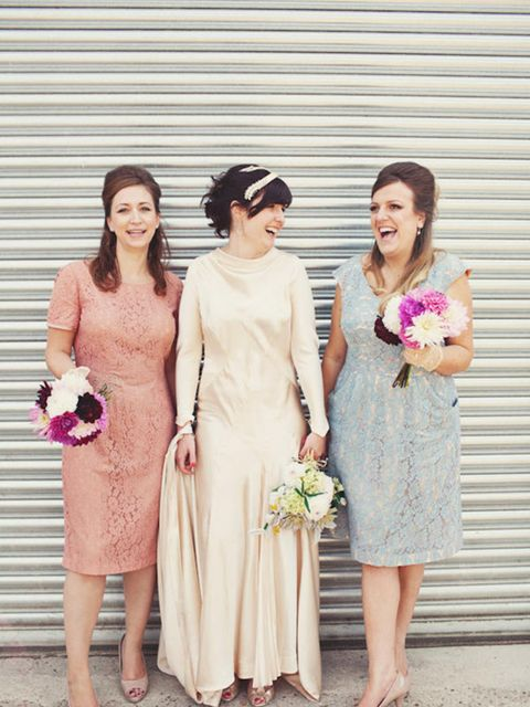 <p>The bridesmaids were my best friends Katie and Emma.</p>