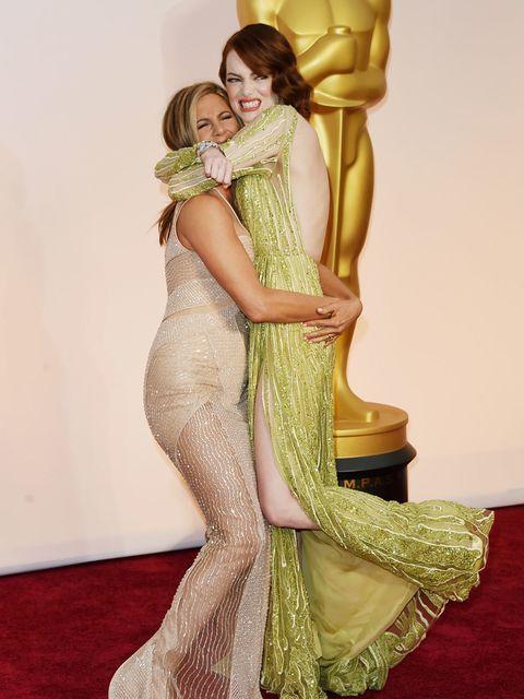 <p>Jennifer Aniston and Emma Stone.</p>