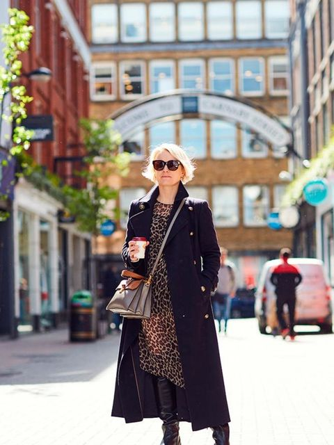 <p>Lorraine Candy, Editor-in-Chief</p>  <p>Marks & Spencer coat, Topshop dress, Prada boots, Miu Miu bag, Stella McCartney glasses</p>
