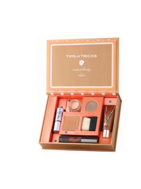 "<p><a href=""http://www.theukedit.com/benefit-the-bronze-of-champions-kit/10794332.html"">Benefit The Bronze of Champions Kit, £26.50</a></p><p>More bronze than bright, but it will make you feel SO much better to override a greyish winter complexion with su"