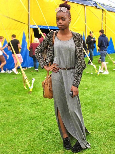<p>Diana Nkoy, 16, Student. Forever 21 jacket, H&M dress, Matalan bag and belt, Topshop earrings.</p><p>Photos by Lisa Rahman & Nikki McClarron</p>