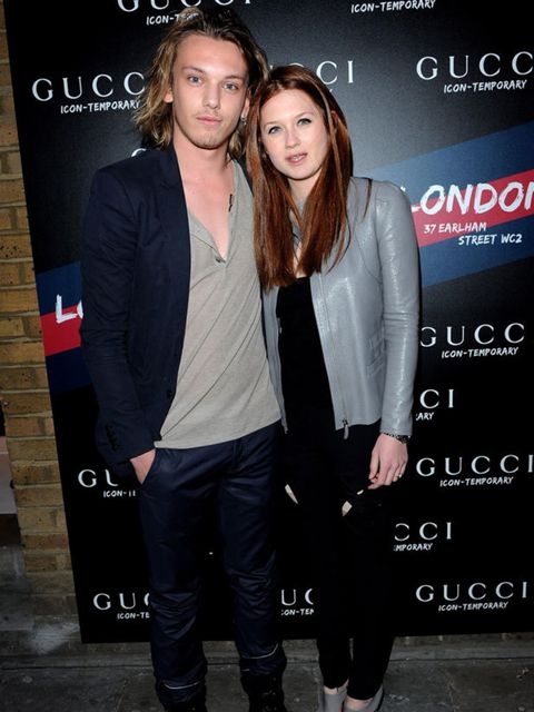 <p>Jamie Campbell Bower &amp; Bonnie Wright </p>