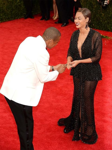 <p>Jay Z and Beyoncé at the Costume Institute Gala 2014 honouring Charles James: Beyond Fashion.</p>