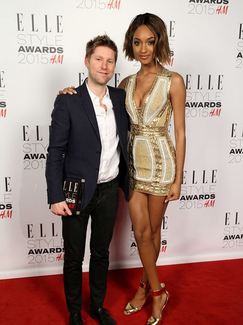 "<p><a href=""http://www.elleuk.com/tags/christopher-bailey"">Christopher Bailey</a>, winner of the Editor's Choice award, with <a href=""http://www.elleuk.com/tags/jourdan-dunn"">Jourdan Dunn</a> at the ELLE Style Awards 2015.</p>"