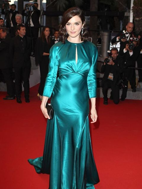 <p>Rachel Weisz wears Prada with Chaumet jewellery to attend the Youth premiere during the Cannes Film Festival, May 2015.</p>