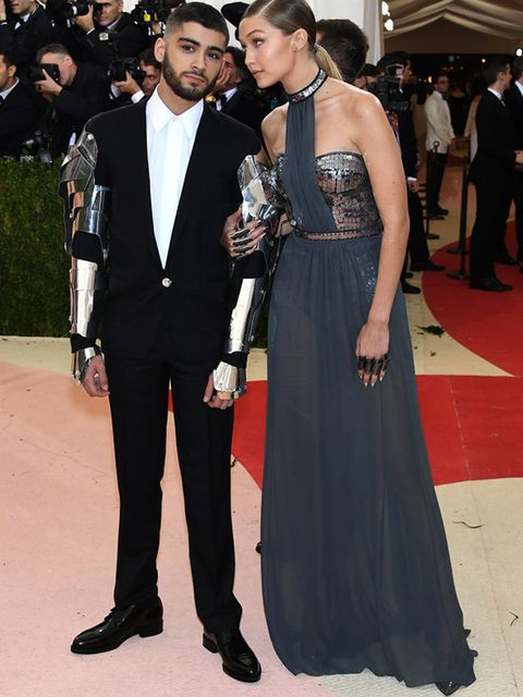Gigi Hadid and Zayn Malik at the Met Gala in New York, May 2016.