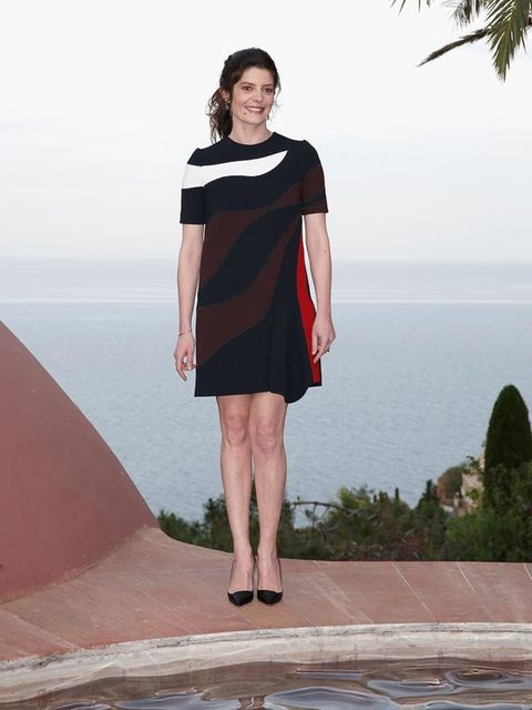 Dakota Fanning attends the Dior Cruise 2016 Collection show at Le Palais Bulles, May 2015.