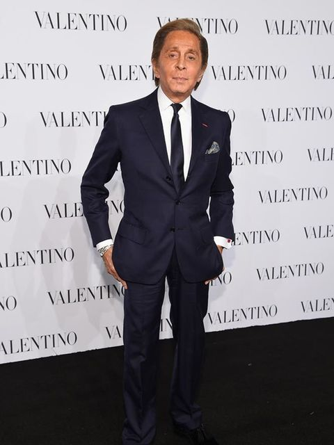 Valentino Garavani at the Valentino Sala Bianca 945 Event in New York, December 2014.
