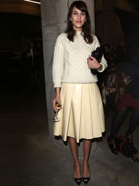 <p>Alexa Chung attends the JW Anderson show, London.</p>