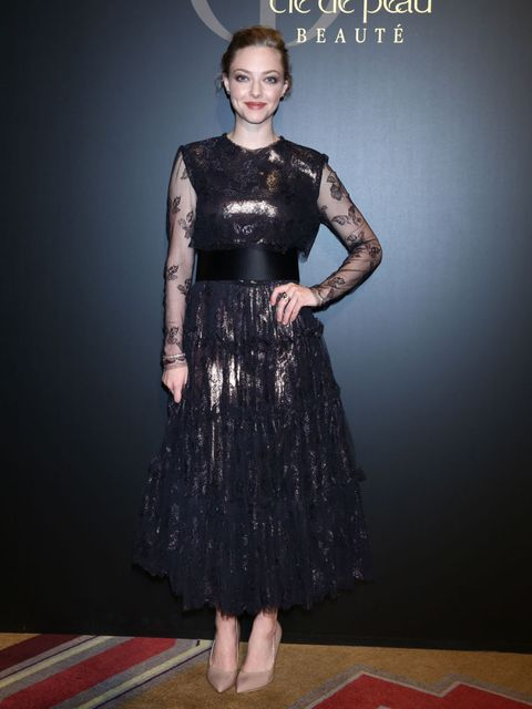 <p>Amanda Seyfried attends 'Cle de peau BEAUTE 2014' promotional event at the Ritz Carlton, Tokyo wearing Lanvin on 2nd June 2014.</p>