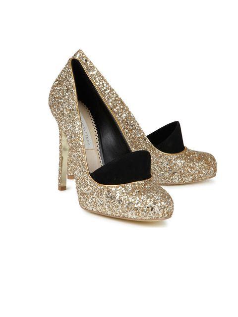 "<p>Stella McCartney glitter embellished pumps, was £400 now £280, at <a href=""http://www.harveynichols.com/"">Harvey Nichols</a></p>"